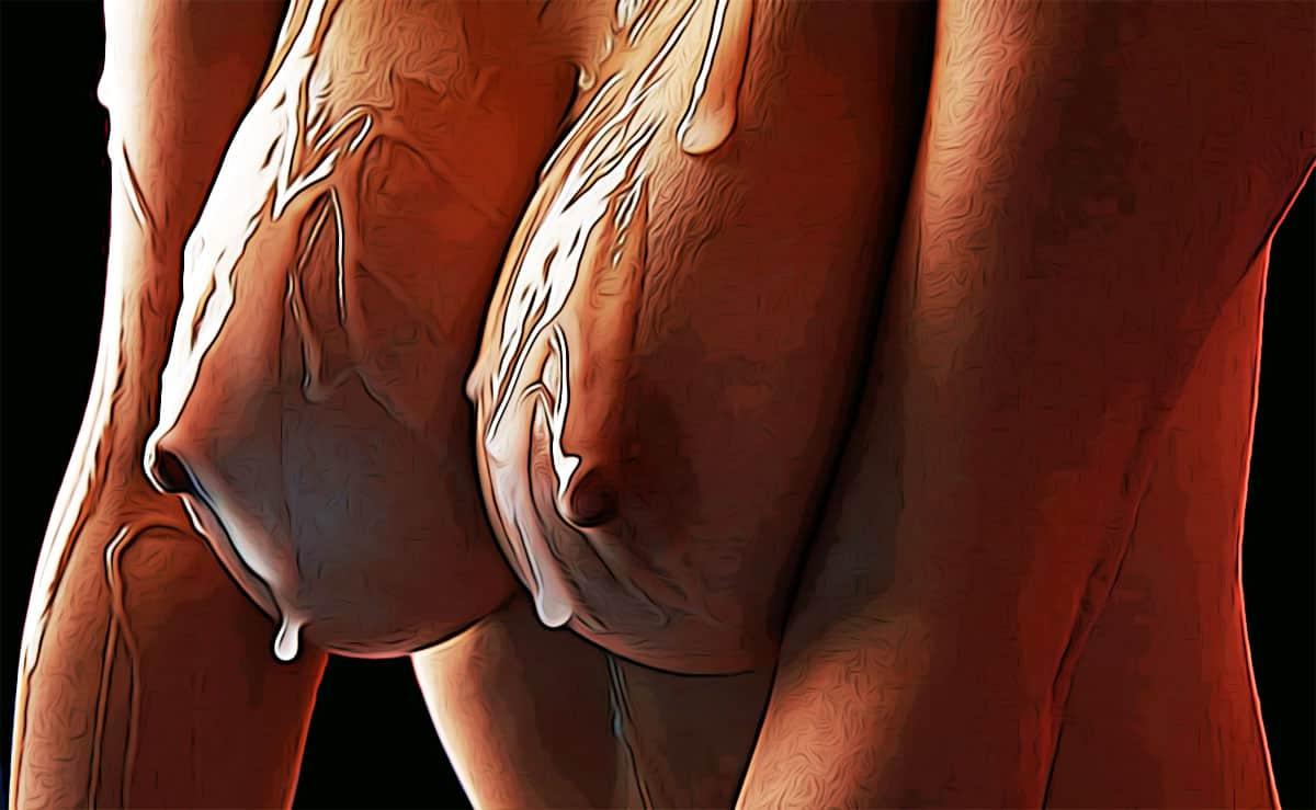 sperma op tieten